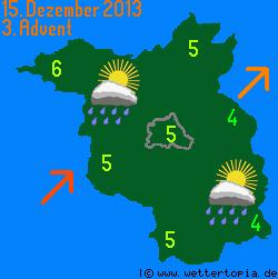 Wetterkarte Berlin / Brandenburg