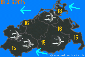 Wetterkarte Mecklenburg-Vorpommern