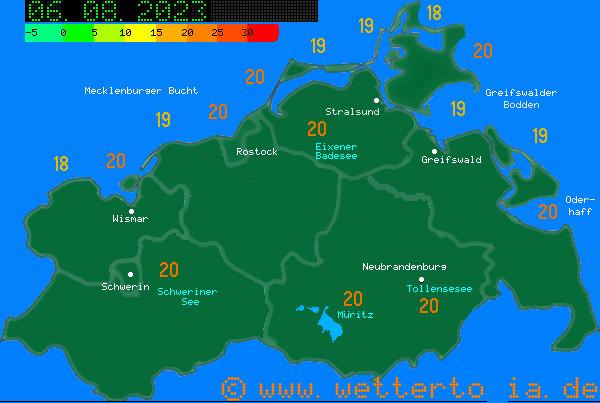 Aktuelle Wassertemperaturen