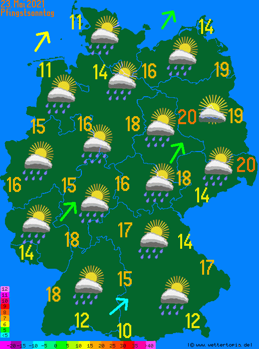 Wetterkarte Pfingsten